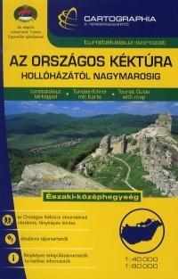 Az országos Kéktúra 1:40 000, 1:60 000 - Turistatérkép