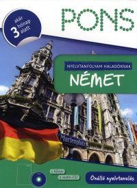 PONS nyelvtanfolyam haladóknak:Német (1 könyv + 2 audio-CD)