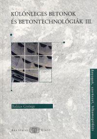 Különleges betontechnológiák III.